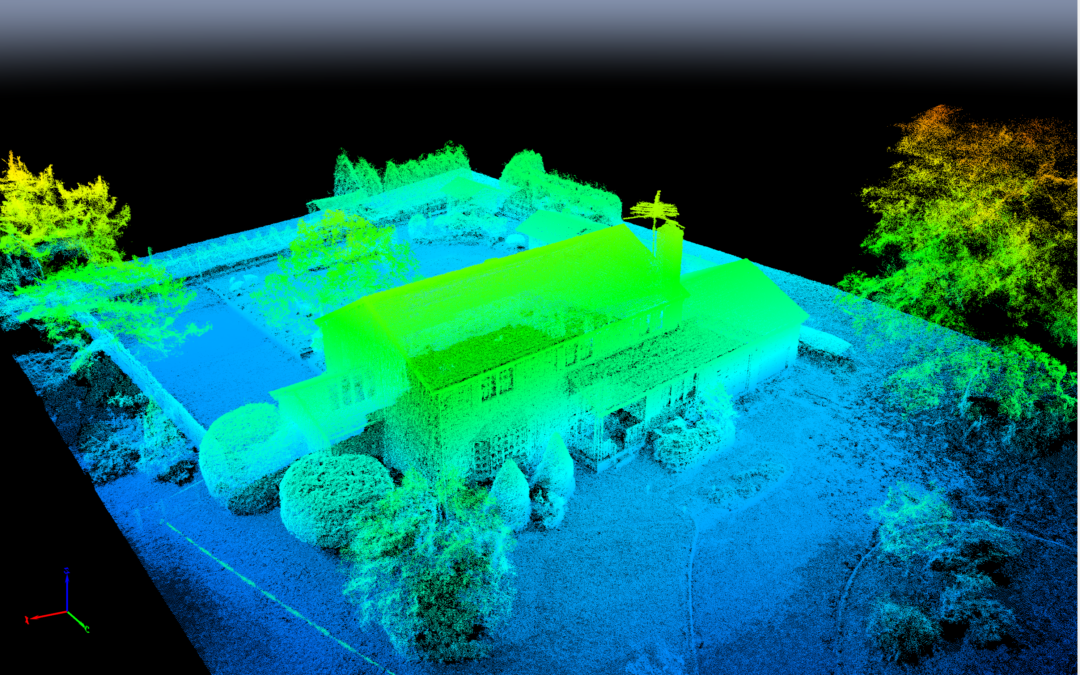 Point Cloud (color coded for elevation)